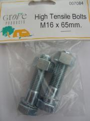 High Tensile Bolts M16 x 65mm
