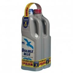 Double Blue And Rinse Toilet Chemical Twin Pk
