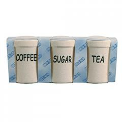 Tea, Coffee & Sugar Container Set