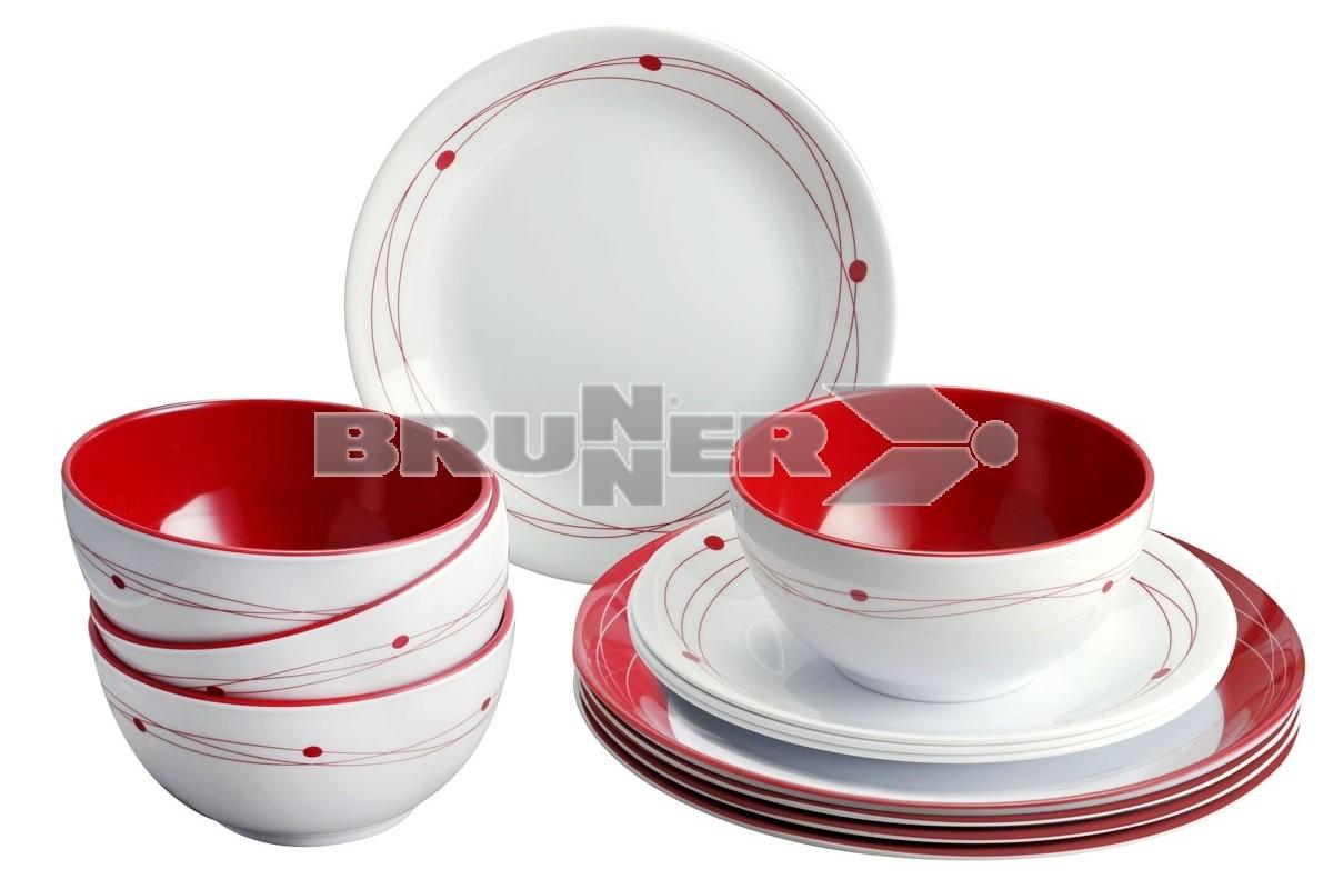 Brunner 16 Piece Melamine Set Cosmic Style