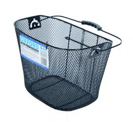 Oxford Handlebar Mesh Basket with Bracket - Black